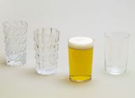 The left premium beer glass, the right revival beer glass